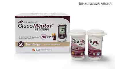 [SD GLUCOMENTOR] Blood Glucose Meter Monitor System Test Strip, 150 T