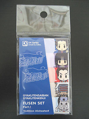 ACE ATTORNEY GYAKUTEN SAIBAN PHOENIX WRIGHT MAYA FEY FUSEN STICKY NOTES CAPCOM