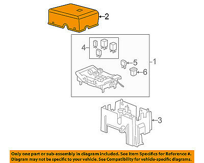 GM OEM Fuse Relay Box-Upper Cover 25815385