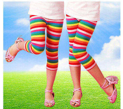 New Girly Girls Rainbow Leggings Pants Size 1-7 Year
