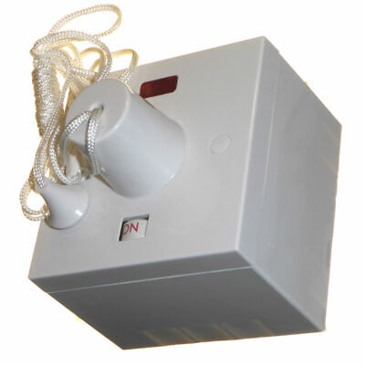 45A shower pull cord ceiling switch with back box 44mm surface back box 45 amp