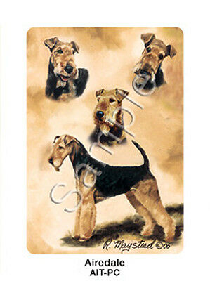 Ruth Maystead Dog Playing Cards Airedale Terrier Deck Pack Poker