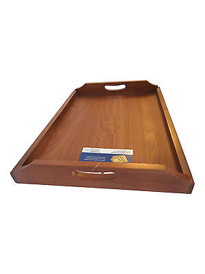 Wooden Serving Tray with handles Tea Tray Bed / Lap Tray Large 43CM X 28CM X 6CM