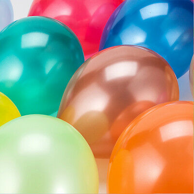 100 X 10 inches latex Pearlised balloons party wedding birthday anniversary UK