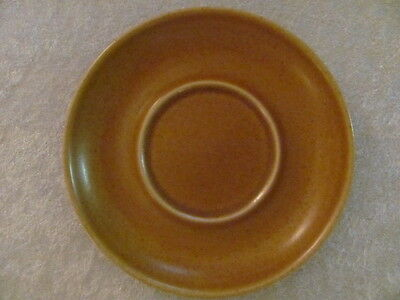 "Denby Langley China Pottery Stoneware Oak Apple 5 3/4"" Coffee Cup Saucer-England"