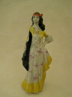 Soviet  Porcelain Figurine The Gipsy Aza with a shawl (dance). statue. USSR