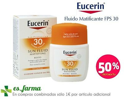 Eucerin Fluido Solar Matificante Spf30, 50Ml Piel Normal, Mixta, Acne