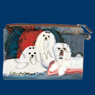 NEW Ruth Maystead Best Friends Zippered Pouch Maltese