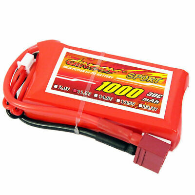 11.1V 3S 1000mAh 30C LiPO Battery T-plug Burst 60C RC Model Lipolymer Power