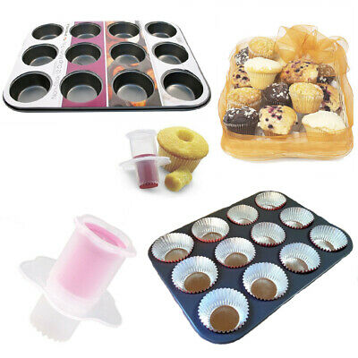 12 Muffins Mould Cup Pan Metal Cup Cake Baking Pan Non-Stick Tray Bakeware