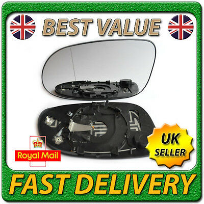 Left Passenger Side Heated Wing Mirror Glass for MERCEDES A-Class W168 1997-2004