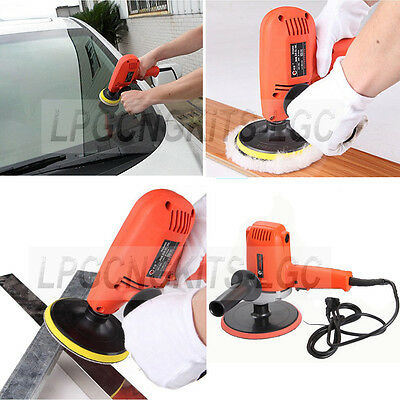 "7"" Electric Car Boat Polisher Waxer Buffer Sander Variable Speed 4000RPM"