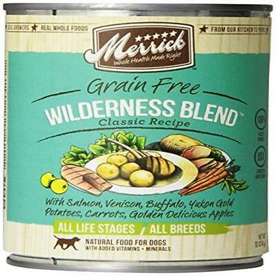 Count 12 Merrick Wilderness Blend Dog Food 13.2 Oz New