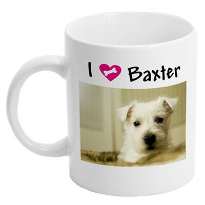 NEW White Custom / Personalized 11 oz. Ceramic Coffee Mug with your Photo/Logo