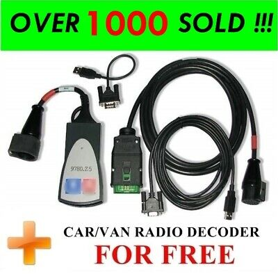 FULL CHIP-REV. C LEXIA 3 Diagnostic Interface for Citroen Peugeot, DIAGBOX 7.83