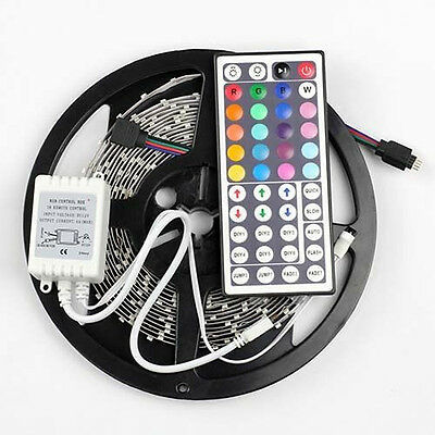 RGB 5M 3528 Non-waterproof LED Strip Light 300leds+44 keys Remote Controller