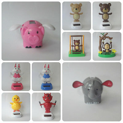 New Solar Powered Dancing Pig, Elephant, Bunny, Chick, Bear, Devil, Cupid