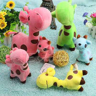 1Pc Lovely Dear Baby Kid Birthday Party Gift Animal Giraffe Dolls Soft Plush Toy