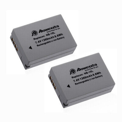 2x NB-10L NB10L Battery For Canon Powershot SX40 SX50 SX60 HS G16 G15 G1X Camera