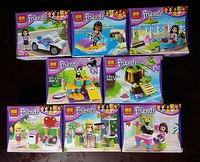 8 kinds Friends Series Girl's building toys all new in the original bags no box