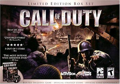 Call Of Duty 1 Deluxe Edition Box Set PC Games Windows 8 7 Vista XP Computer NEW