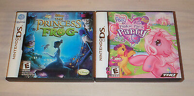 NINTENDO DS GAMES MY LITTLE PONY PINKIE PIES PARTY/DISNEY'S PRINCESS & THE FROG