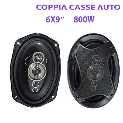 KIT COPPIA CASSE AUTO 2 VIE 300 W ALTOPARLANTI SPEAKER AUTOMOBILE 6x9 CM TS6972