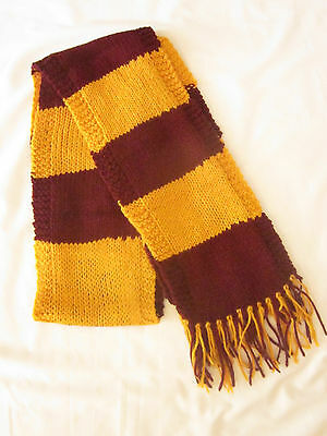 Harry Potter Scarf Gryffindor SCHOOL COLORS *First Year* - Hand Knit Scarf
