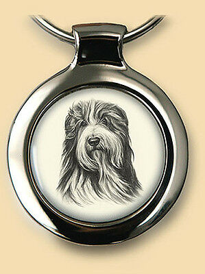 Das Portrait Dog Pendant/Key Ring NEW Bearded Collie