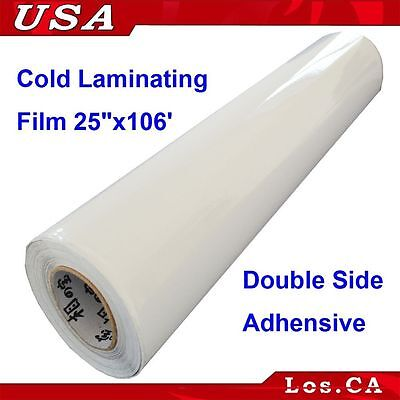 Clear Double Sided 0.7x36Yard roll Adhesive Pressure Sensitive Laminating Film