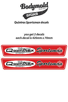 Quintrex Vintage style boat decals