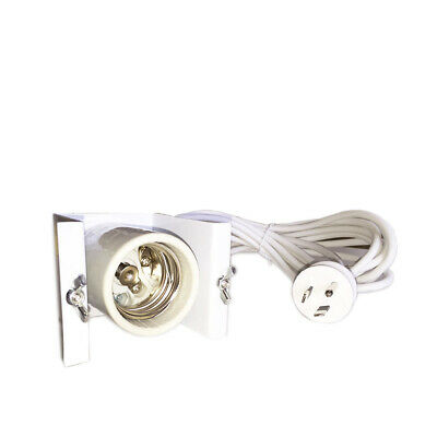 [5] x E39/E40 Lamp Holder with Round Earth Light Socket - 4M Cable | HID & CFL