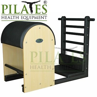 Steel Framed Ladder Barrel [Black] Including 2 Piece Foot Platform