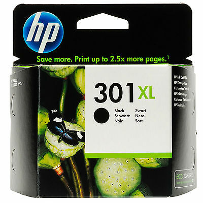 New Genuine / Original HP 301XL Black for HP Deskjet 2540/1010 (CH563EE))
