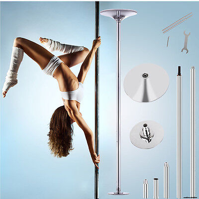 Portable Dance Pole 45mm Stainless Steel Fitness Dancing Spinning Static.