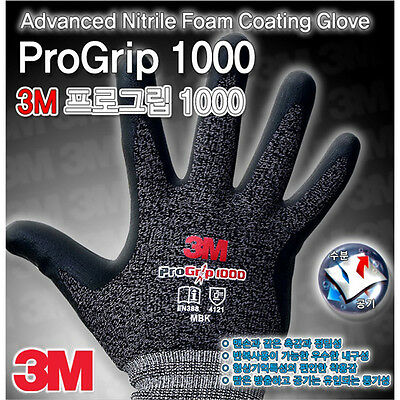 NEW 3M Advanced Nitrile Foam Coating Gloves Work Comfort grip Electrical wiring