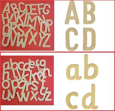 Wooden Drawing Templates Lower Upper Case Alphabet Letters Script Style Abc