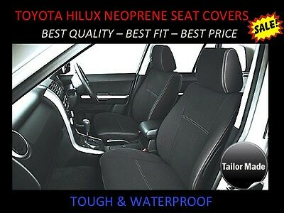 Toyota Hilux Sr - Sr5 Front Pair Neoprene Seat Covers ( Wetsuit Material )