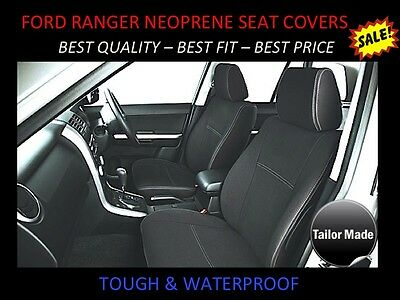 Ford Ranger Px2 Front Pair Custom Made Neoprene Seat Covers  Wetsuit Material