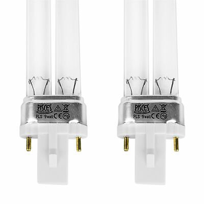Twin Pack 9W Watt Pls Pond Filter Uv/Uvc Bulb/Light/Tube/Lamp Ultra-Violet
