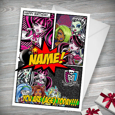 Monster High Ideal For Daughter Niece Personalised Childrens