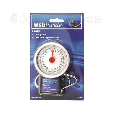 WSB Wide Dial Fish Scale - Fishing Scale & Tape Measure