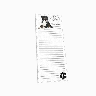 Got Yo Gifts Lined Magnetic Dog List Pad NEW Border Collie