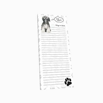 Got Yo Gifts Lined Magnetic Dog List Pad NEW Chinese Crested Powder Puff