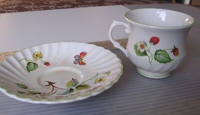 James Kent  Old Foley Strawberry Cup & Saucer