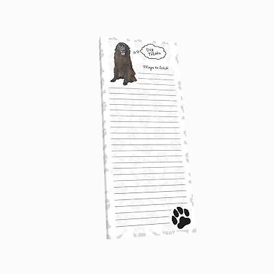 Got Yo Gifts Lined Magnetic Dog List Pad NEW Newfoundland
