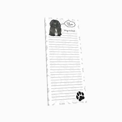Got Yo Gifts Lined Magnetic Dog List Pad NEW Pekingese
