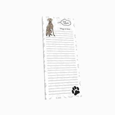 Got Yo Gifts Lined Magnetic Dog List Pad NEW Weimaraner