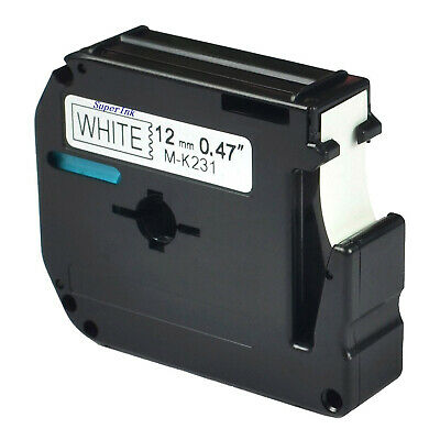 "Compatible For Brother P-touch Label M-K231 MK231 Black on White Tape 1/2"" 12mm"
