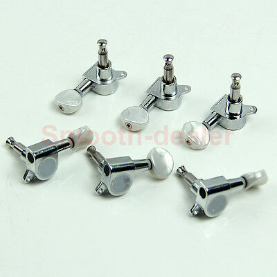 New Chrome Inline Guitar String Tuning Pegs Tuners Machine Head 6R Right Hot